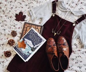 autumn, book, and boots image