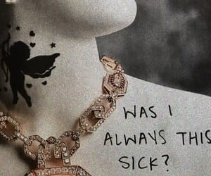 neclace, sick, and love image