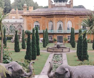 building, elephant, and garden image