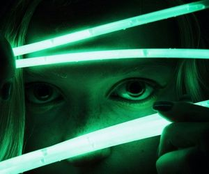 green, neon, and glow image