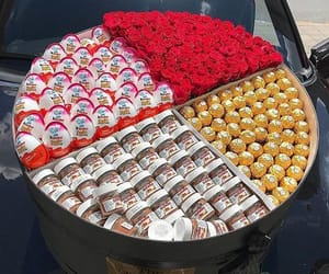chocolate, ferrero rocher, and flowers image