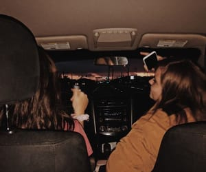 bestfriends, car, and music image