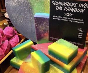 lush, rainbow, and soap image