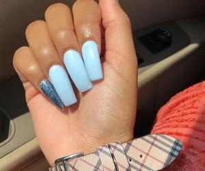 acrylics, nails, and glitter nails image