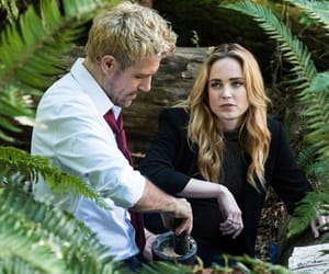 john constantine, sara lance, and legend of tomorrow image