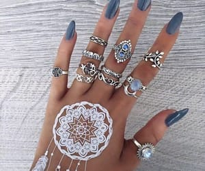 aesthetic, henna, and fall image