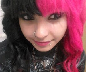 colored hair, emo, and scene girls image