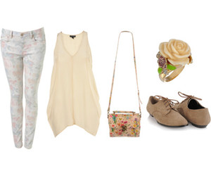 fashion, floral, and oxford image