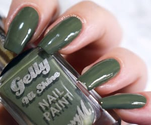 barry m, green nails, and khaki image