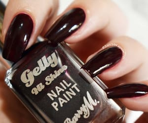 barry m, red nails, and notd image