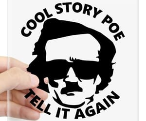 edgar allan poe, funny, and puns image