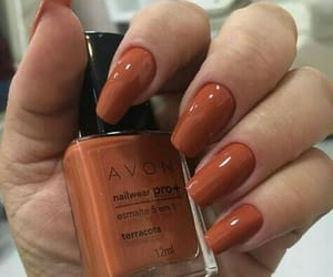 nails, orange, and autumn image