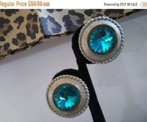etsy, statement jewelry, and rhinestone earrings image