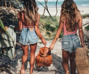 beach, forest, and friends image