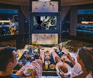 couple, dinner, and dreamy image