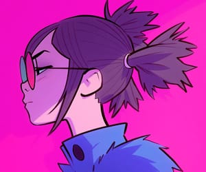 gorillaz, noodle, and art image