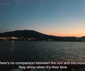 boat, moon, and quote image