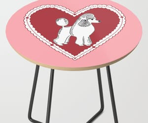 pink, poodle, and table image