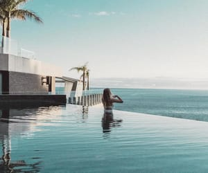 chill, holiday, and infinity pool image