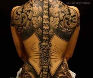 corset, skulls, and girl image