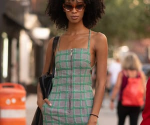 black women, curly hair, and fashion image