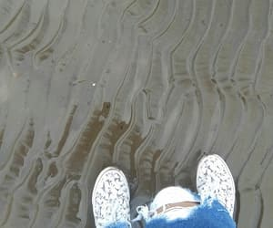 beach, damp, and jeans image