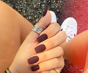 girly, hand, and manicure image