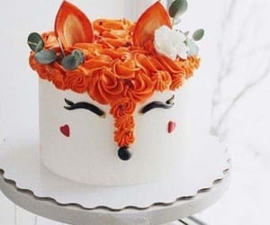 birthday, cake, and fox image