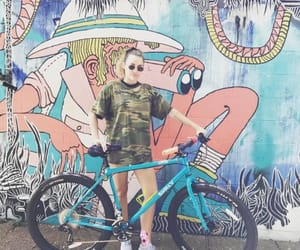 bike, fashion, and girl image