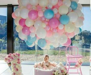 babies, balloons, and birthday image