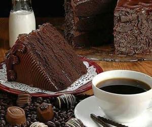 chocolate, cake, and coffee image