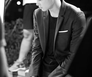 black&white, suit, and korean male image