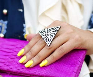 nails, ring, and yellow image