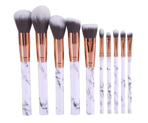 makeup brush, png, and marble image
