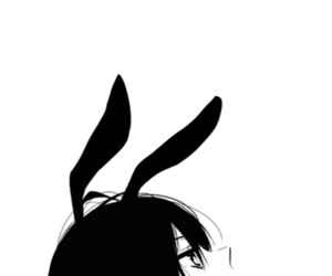 anime, black and white, and bunny image