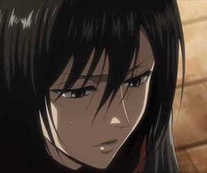 anime, anime girl, and mikasa ackerman image