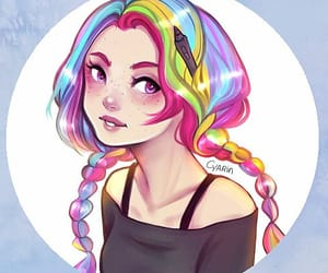 colored, girl, and hair image