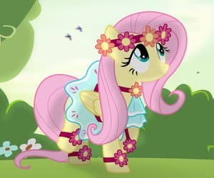 adorable, flowers, and mlp fim image
