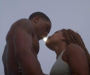 black girl, couples, and kiss image