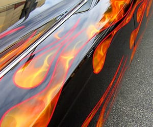 cars, flames, and lowriders image