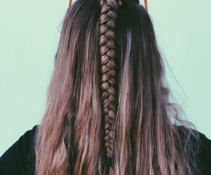 braid, hair, and heart image