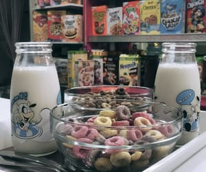cereal, milk, and tasty image