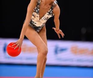 ball, silver, and rhythmic gymnastics image