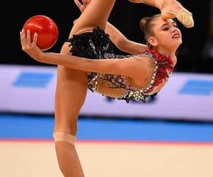 ball, red, and rhythmic gymnastics image