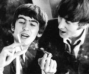 john lennon, george harrison, and the beatles image