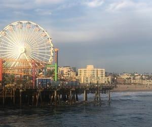 california, ocean, and pier image