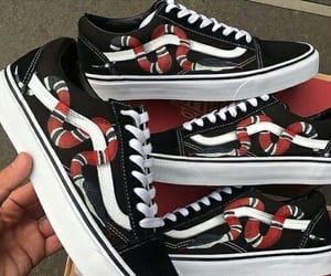 vans, black, and red image