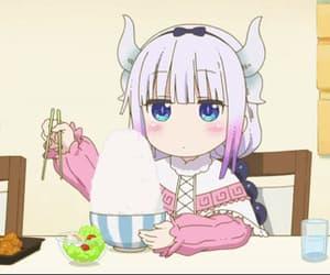 anime, anime girl, and anime food image