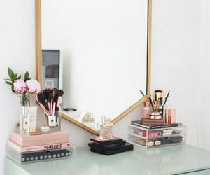 makeup, mirror, and decor image
