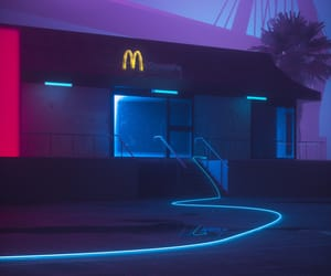 blue, neon, and lights image